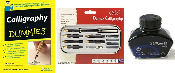 calligraphy book pen ink